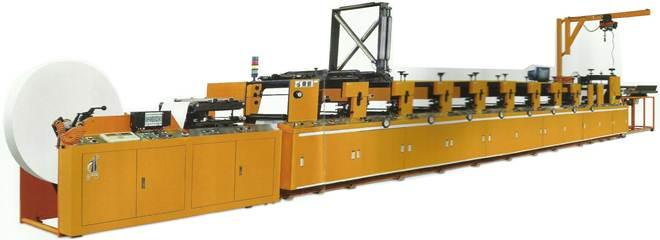 Описание: Флексографская рулонная печатная машина линейного построения DH-330 - фотка 1