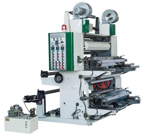 Флексографская печатная машина 2-ти красочная, среднескоростная, ярусного построения серии YT-Z-2 - фотография флексографской машины