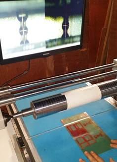 Система наклейки флексографских форм с раскатной системой монтажа FPM-450. Фотография 3