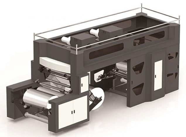 Флексографская печатная машина планетарного построения (с центральным барабаном) WRY-600-6. Фотография - картинка 1.